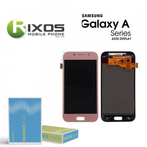 Samsung Galaxy A5 2017 (SM-A520F) Display module LCD + Digitizer pink GH97-19733D