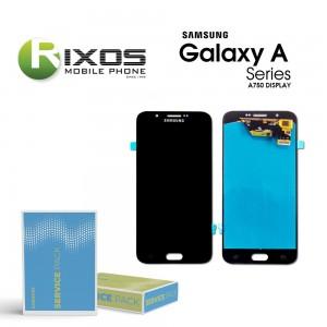 Samsung Galaxy A8 2018 (SM-A800F) Display module LCD + Digitizer black GH97-17696C