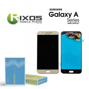 Samsung Galaxy A8 2018 (SM-A800F) Display module LCD + Digitizer gold GH97-17696B