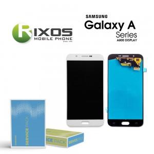 Samsung Galaxy A8 2018 (SM-A800F) Display module LCD + Digitizer white GH97-17696A