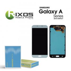 Samsung Galaxy A8 2016 (SM-A810F) Display module LCD + Digitizer blue GH97-19655A