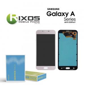 Samsung Galaxy A8 2016 (SM-A810F) Display module LCD + Digitizer pink GH97-19655B