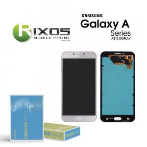 Samsung Galaxy A8 2016 (SM-A810F) Display module LCD + Digitizer silver GH97-19655C