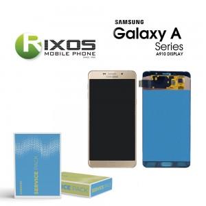 Samsung Galaxy A9 Pro 2016 (SM-A910F) Display module LCD + Digitizer gold GH97-18813A