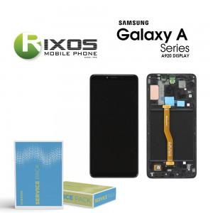 Samsung Galaxy A9 2018 (SM-A920F) Display module LCD + Digitizer caviar black GH82-18308A