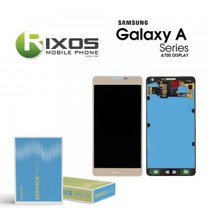 Samsung Galaxy A7 (SM-A700F) Display module LCD + Digitizer gold GH97-16922F