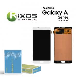 Samsung Galaxy A7 2016 (SM-A710F) Display module LCD + Digitizer white GH97-18229C
