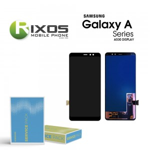 Samsung Galaxy A8 2018 (SM-A530F) Display module LCD + Digitizer black GH97-21406A