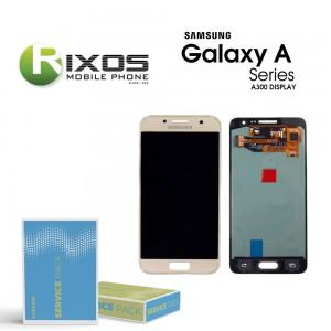 Samsung Galaxy A3 (SM-A300F) Display module LCD + Digitizer gold GH82-16747F