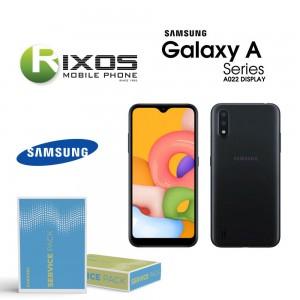 Samsung Galaxy A02 (SM-A022F) Lcd Display unit complete black GH82-25249A OR GH82-25250A