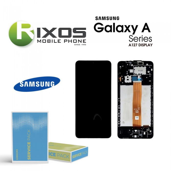 Samsung Galaxy A12 (SM-A127F 2021) Lcd Display unit complete black GH82-26485A OR GH82-26486A