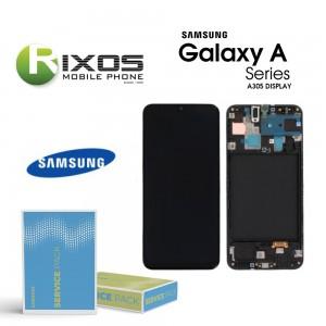 Samsung Galaxy A30 (SM-A305F) Lcd Display unit complete black GH82-19202A OR GH82-19725A