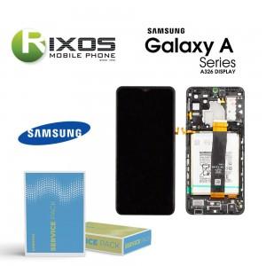 Samsung Galaxy A32 5G (SM-A326B) Lcd Display unit complete black + Btry  GH82-25121A OR GH82-25122A