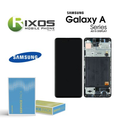 Samsung Galaxy A51 (SM-A515F) Lcd Display unit complete black GH82-21669A OR GH82-21680A OR GH82-22084A OR GH82-22083A