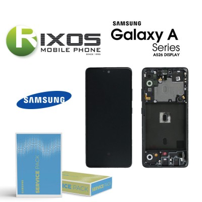 Samsung Galaxy SM-A526 (A52 5G 21) Lcd Display unit complete white GH82-25229D OR GH82-25230D