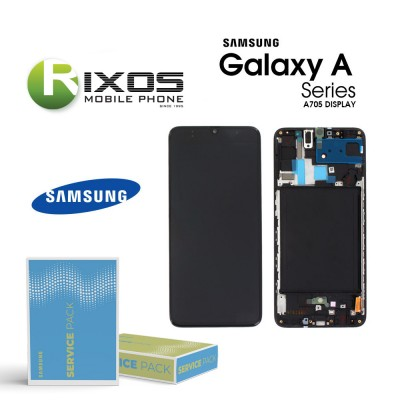 Samsung Galaxy A70 (SM-A705F) Lcd Display unit complete black GH82-19747A OR GH82-19787A