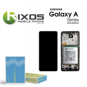 Samsung Galaxy A72 2021 (SM-A725 / A726 4G / 5G ) Display module LCD + Digitizer black + btry  GH82-25541A OR GH82-25542A