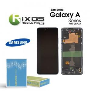 Samsung Galaxy A90 5G (SM-A908B SM-A908F) Lcd Display unit complete black GH82-21092A OR  GH82-21530A