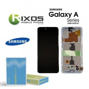 Samsung Galaxy A90 5G (SM-A908B SM-A908F) Lcd Display unit complete white GH82-21092B