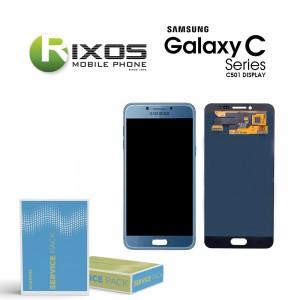 Samsung Galaxy C5 Pro (SM-C501F) Display module LCD + Digitizer blue GH97-20450B