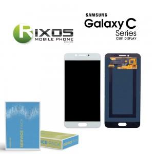 Samsung Galaxy C5 Pro (SM-C501F) Display module LCD + Digitizer white GH97-20450A