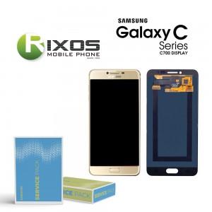 Samsung Galaxy C7 (SM-C700F) Display module LCD + Digitizer gold GH97-19135A