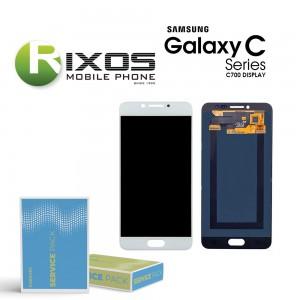 Samsung Galaxy C7 (SM-C700F) Display module LCD + Digitizer white GH97-19135D