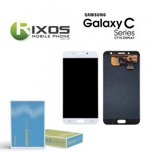 Samsung Galaxy C8 (SM-C710F) Display module LCD + Digitizer white GH97-21073B