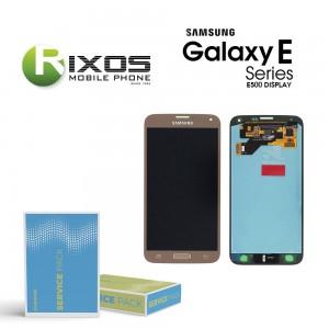 Samsung Galaxy E5 (SM-E500F) Display module LCD + Digitizer gold GH97-17114B