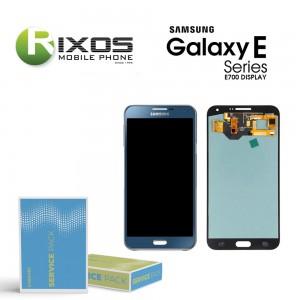 Samsung Galaxy E7 (SM-E700F) Display module LCD + Digitizer blue GH97-17227D