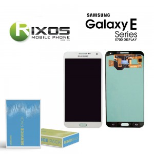 Samsung Galaxy E7 (SM-E700F) Display module LCD + Digitizer white GH97-17227A