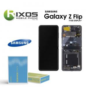Samsung Galaxy Z Flip (SM-F700F) Lcd Display unit complete mirror black GH82-22215A
