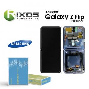 Samsung Galaxy Z Flip (SM-F700F) Lcd Display unit complete mirror purple GH82-22215B