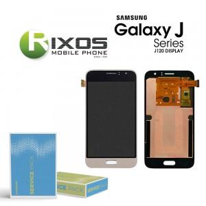 Samsung Galaxy J1 2016 (SM-J120F) Display module LCD + Digitizer gold GH97-18224B