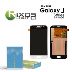 Samsung Galaxy J1 2016 (SM-J120F) Display module LCD + Digitizer white GH97-18224A