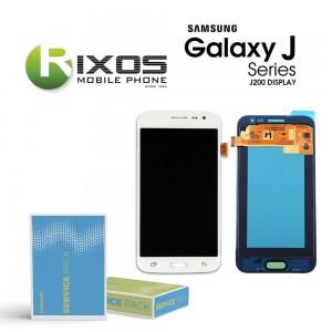 Samsung Galaxy J2 (SM-J200F) Display module LCD + Digitizer white GH97-17940A