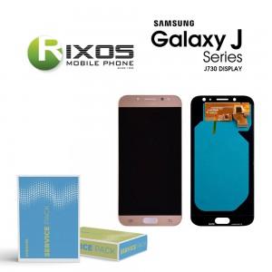 Samsung Galaxy J7 2017 (SM-J730F) Display module LCD + Digitizer gold GH97-20736C