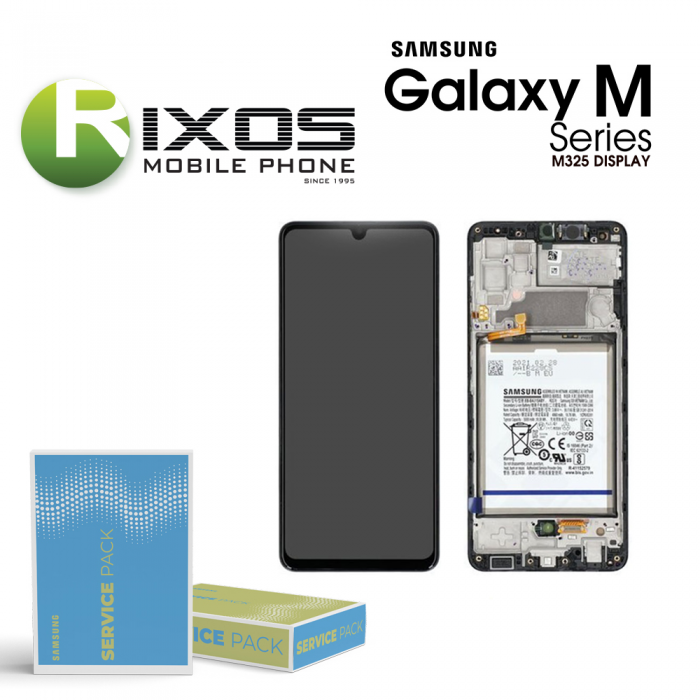 Samsung Galaxy M32 ( SM-M325F 2021 ) Display unit complete black + btry GH82-26192A