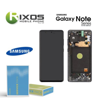 Samsung Galaxy Note 10 Lite (SM-N770F) Lcd Display unit complete aura black GH82-22055A OR GH82-22193A OR GH82-22194A