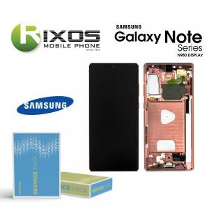 Samsung Galaxy Note 20 (SM-N980F SM-N981F) Display unit complete mystic bronze GH82-23495B OR GH82-23733B