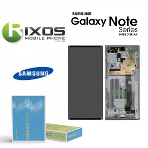 Samsung Galaxy Note 20 Ultra 5G (SM-N986F) Lcd Display unit complete white GH82-23596C OR GH82-23597C
