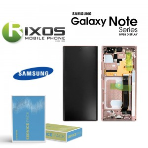Samsung Galaxy Note 20 Ultra 5G (SM-N986F) Lcd Display unit complete mystic bronze GH82-23596D OR GH82-23597D