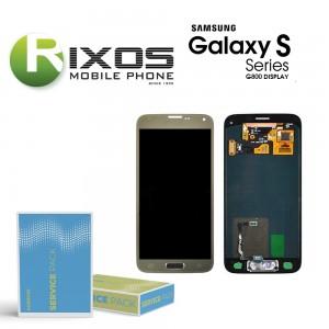 Samsung Galaxy S5 Mini (SM-G800F) Display module LCD + Digitizer gold GH97-16147D