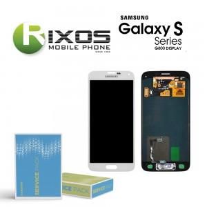 Samsung Galaxy S5 Mini (SM-G800F) Display module LCD + Digitizer white GH97-16147B