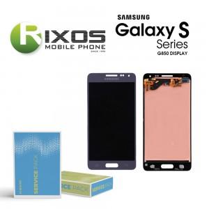 Samsung Galaxy Alpha (G850F) Display unit complete blue GH97-16386C