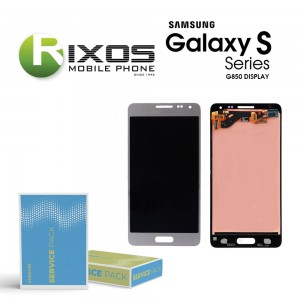 Samsung Galaxy Alpha (G850F) Display unit complete silver GH97-16386E