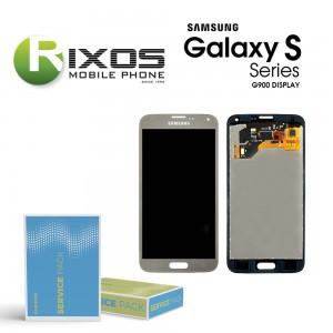 Samsung Galaxy S5 (SM-G900F) Display module LCD + Digitizer gold GH97-15959D