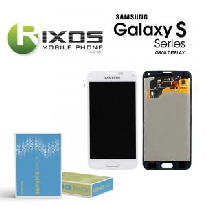 Samsung Galaxy S5 (SM-G900F) Display module LCD + Digitizer white GH97-15959A