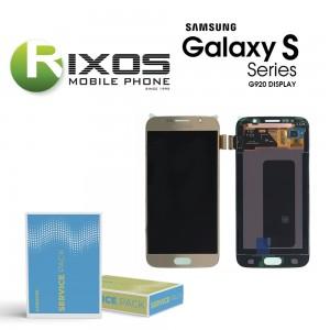 Samsung Galaxy S6 (SM-G920F) Display module LCD + Digitizer gold GH97-17260C