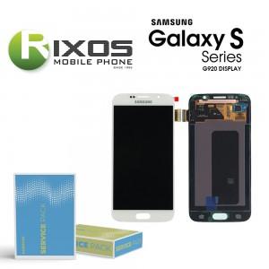 Samsung Galaxy S6 (SM-G920F) Display module LCD + Digitizer white GH97-17260B